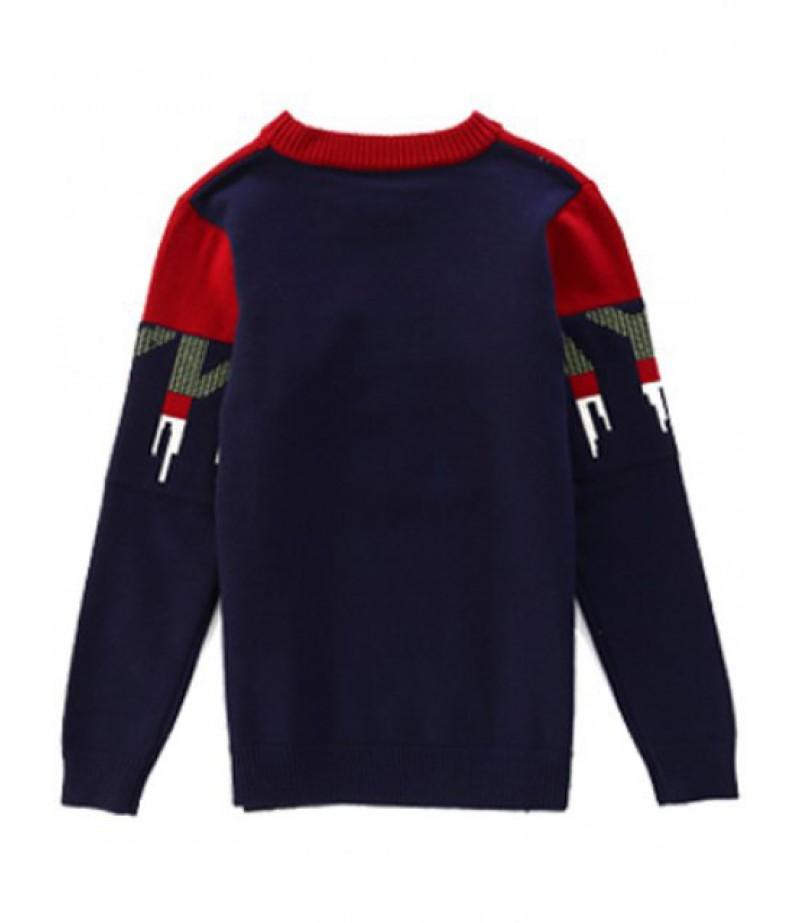 Crew neck letter print sweater