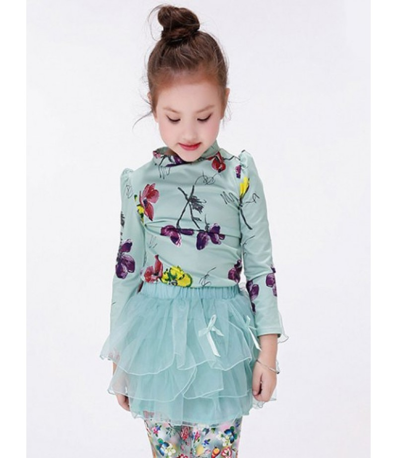 Children's T-shirt with floral print