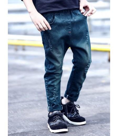 Children's elastic waist jeans