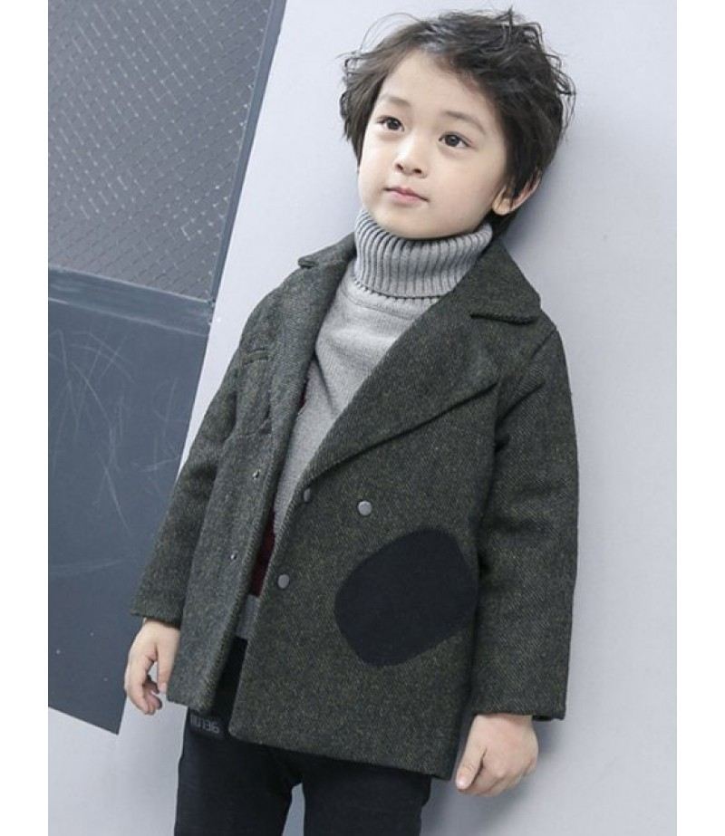 Men's double-breasted wool coat