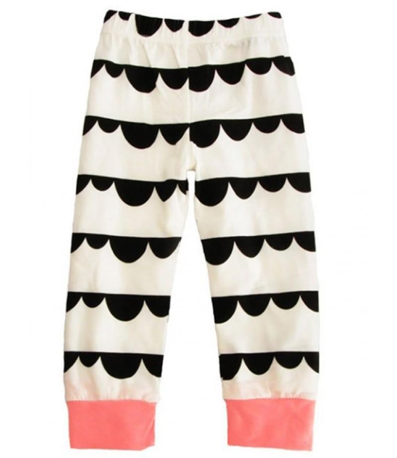 Newborn Baby Down Printed Long Sleeve T-Shirt Pants & Hat 3 Pajamas Set