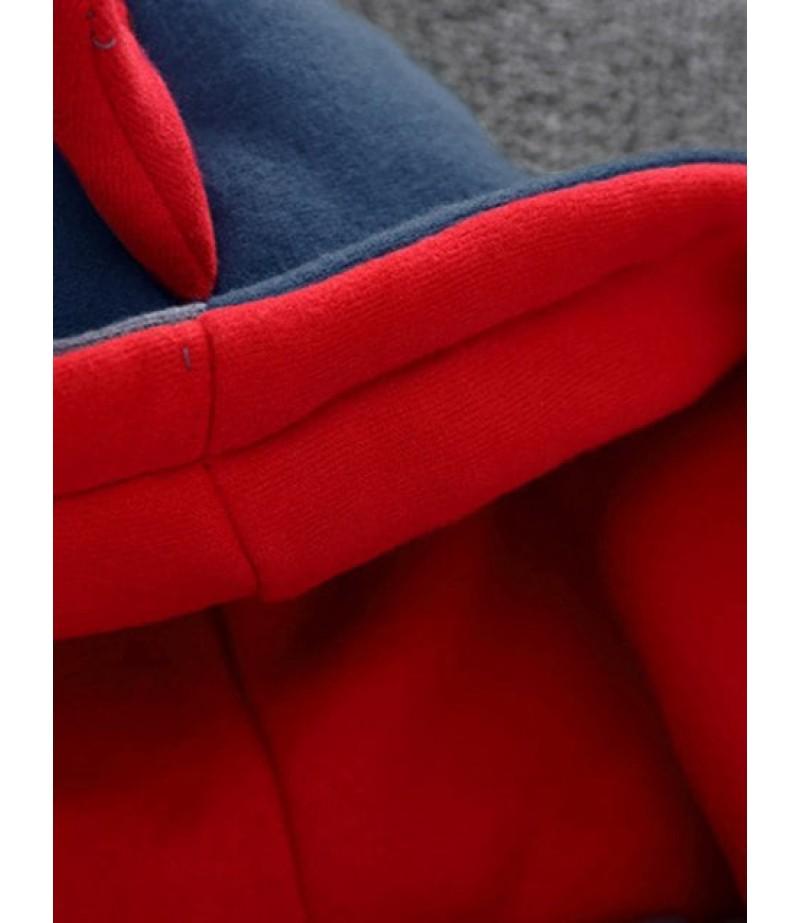 Children's hooded clown print cartoon jacket