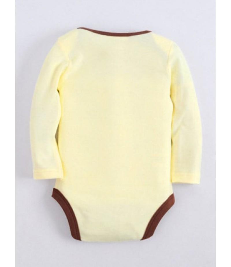 Long-sleeved cartoon bear baby pajamas