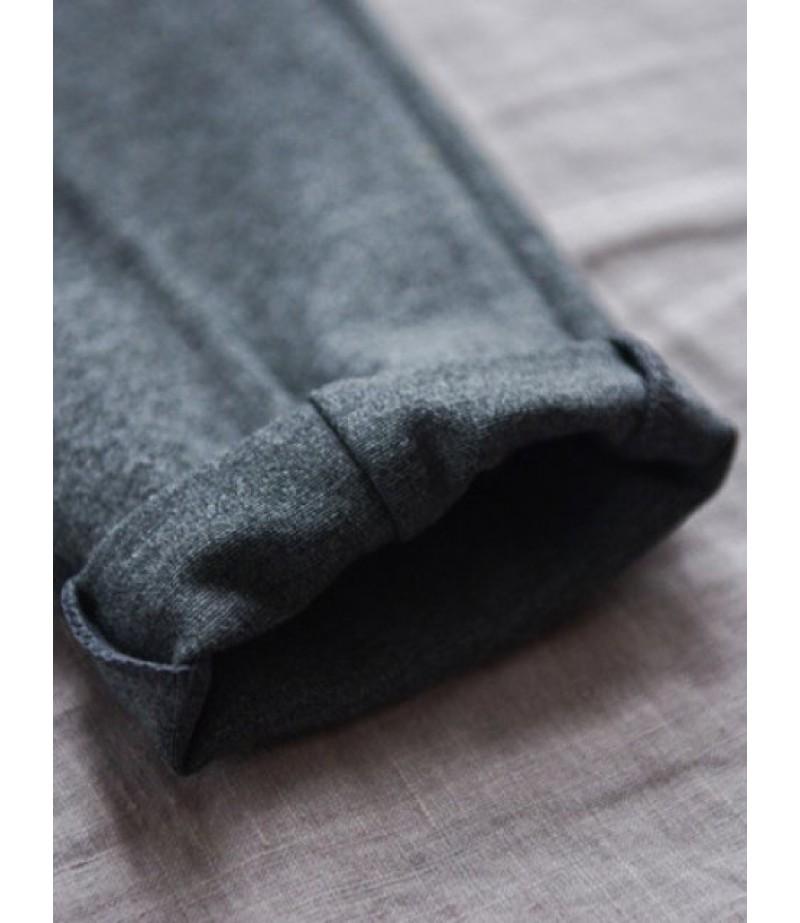 Stretch waist narrow leg Sweatpants