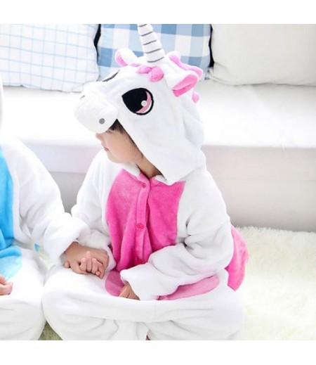 Flannel Unicorn Children's Home Pajamas