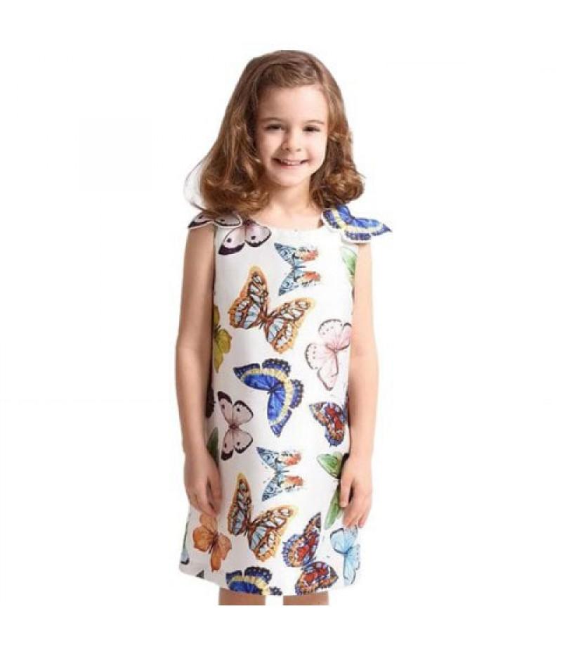 Girl Butterfly vest skirt
