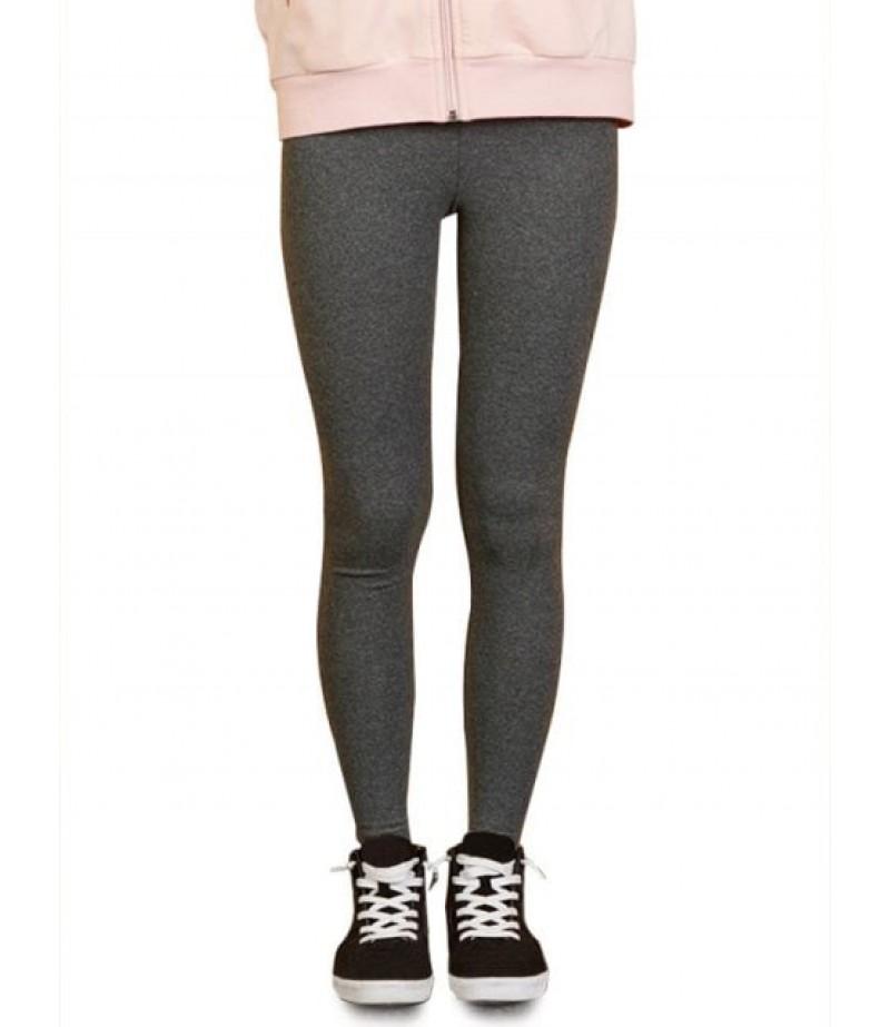 Women's elastic waist heather leggings