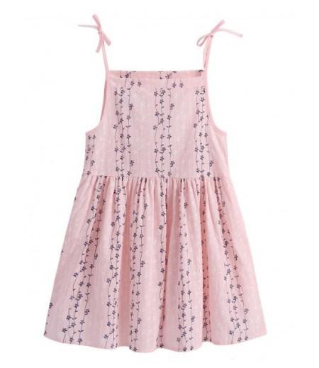 Women's Floral Print Bow High Waist A-line Dress