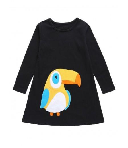 Women's Parrot Pattern Mid Axis Dress